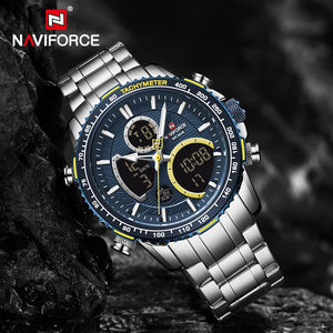NAVIFORCE Men Watch Luxury Brand Sport Style Watches Mens Chronograph Quartz Wristwatch Male Waterproof Clock Relogio Masculino