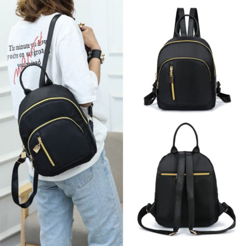 Newest Hot Waterproof Nylon Backpack Women Black School Bags for Teenage Girls Large Capacity Fashion Travel Small Backpack Hot
