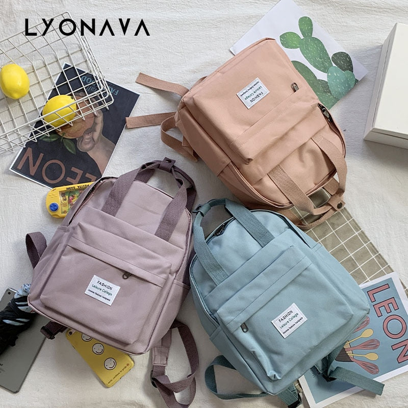 Women Backpack for Teenage Girls 2020 Summer New Fashion Female Casual School Students Shoulder Bags Sweet Travel Backpacks