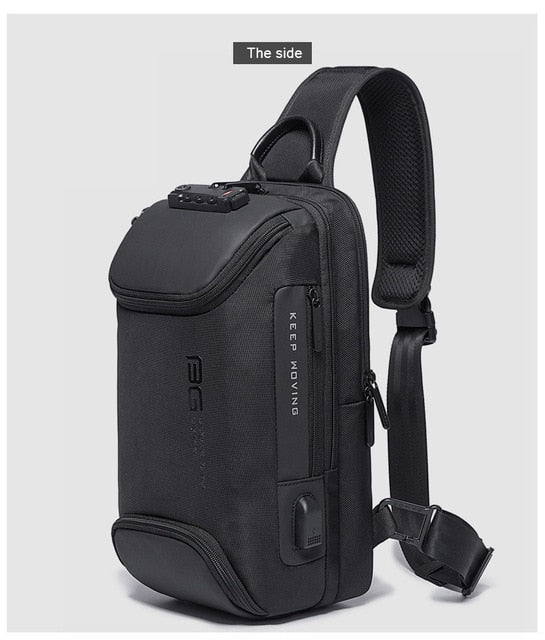 Xiaomi New Fashion casual Outdoor travel crossbody shoulder bag USB charging  Men's chest bag Anti-theft Scratch resistant