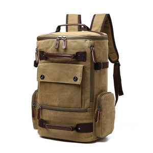 Men's Backpack Vintage Canvas Backpack School Bag Men's Travel Bags Large Capacity Backpack  Laptop Backpack Bag High Qualit