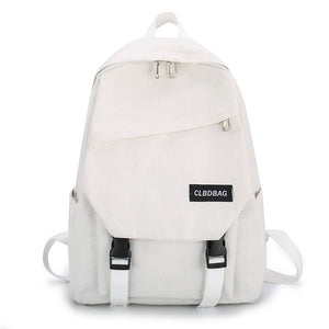 Portable Bags for Student Birthday Gifts Simple Canvas Backpack Shoulder Bag Women Men Schoolbag Teenages Travel Bagpack