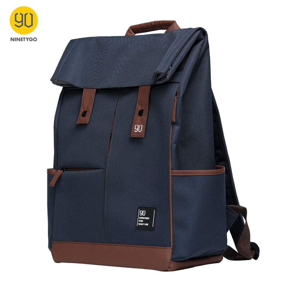 NINETYGO 90Fun College Laptop Backpack Large Capacity Waterproof Men Knapsack Unisex Fashion Computer School Bag