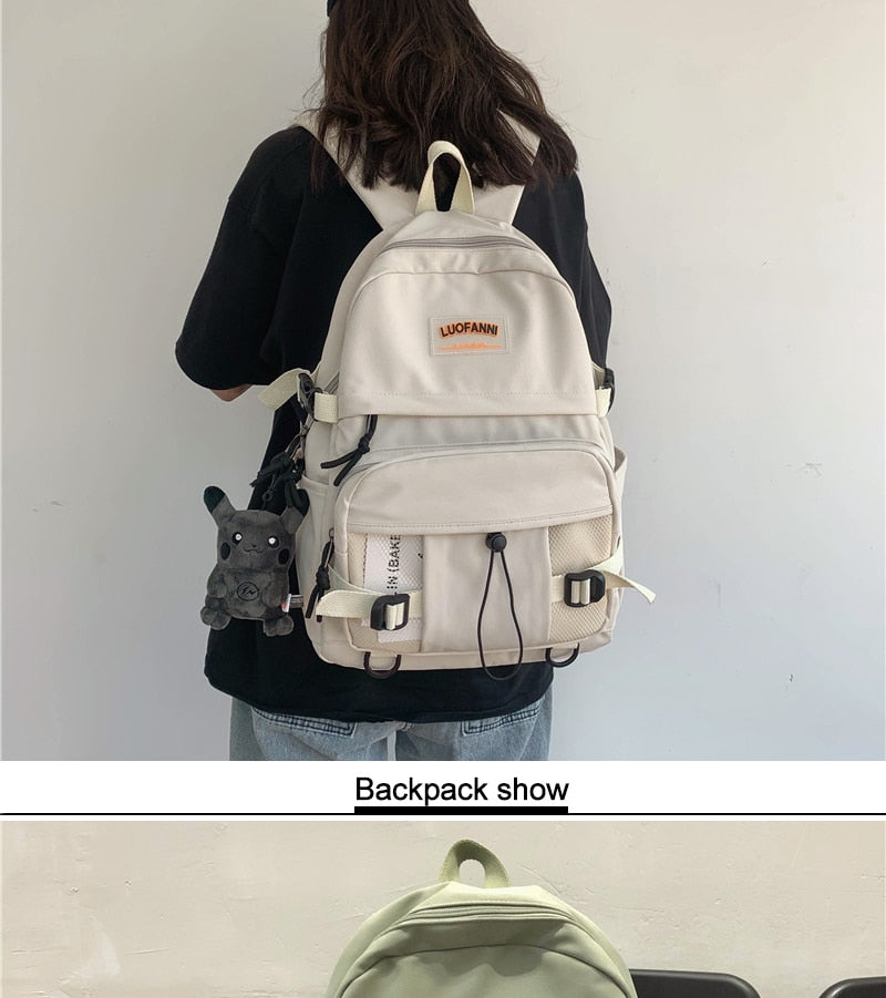 DCIMOR New Waterproof nylon Women Backpack Female High quality Schoolbag for Teenage girl Travel backpack large capacity Mochila