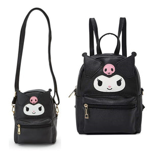 Cute My Melody Cinnamoroll Kuromi Leather Shoulder Messenger Bag Small Back Pack Crossbody Bags for Women Girls Sling Bag