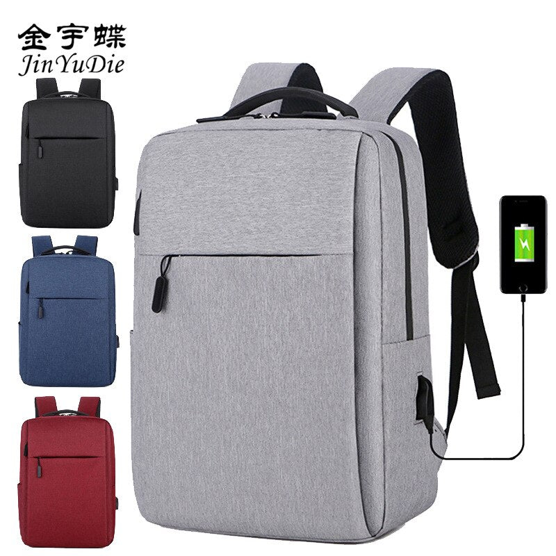 Laptop Backpack Male  Inch Office Men's Backpacks Business Bag Neutral Black Ultralight Backpack Thin backpack small backpack