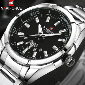NAVIFORCE Brand Men Watches Business Quartz Watch Men's Stainless Steel Band 30M Waterproof Date Wristwatches Relogio Masculino