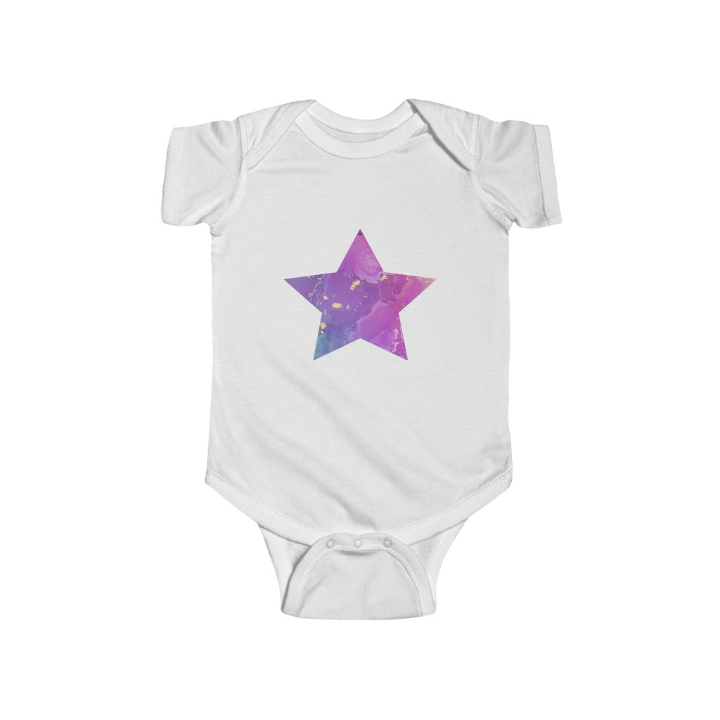 Infant Fine Jersey Bodysuit - Hallie Star Pink Purple