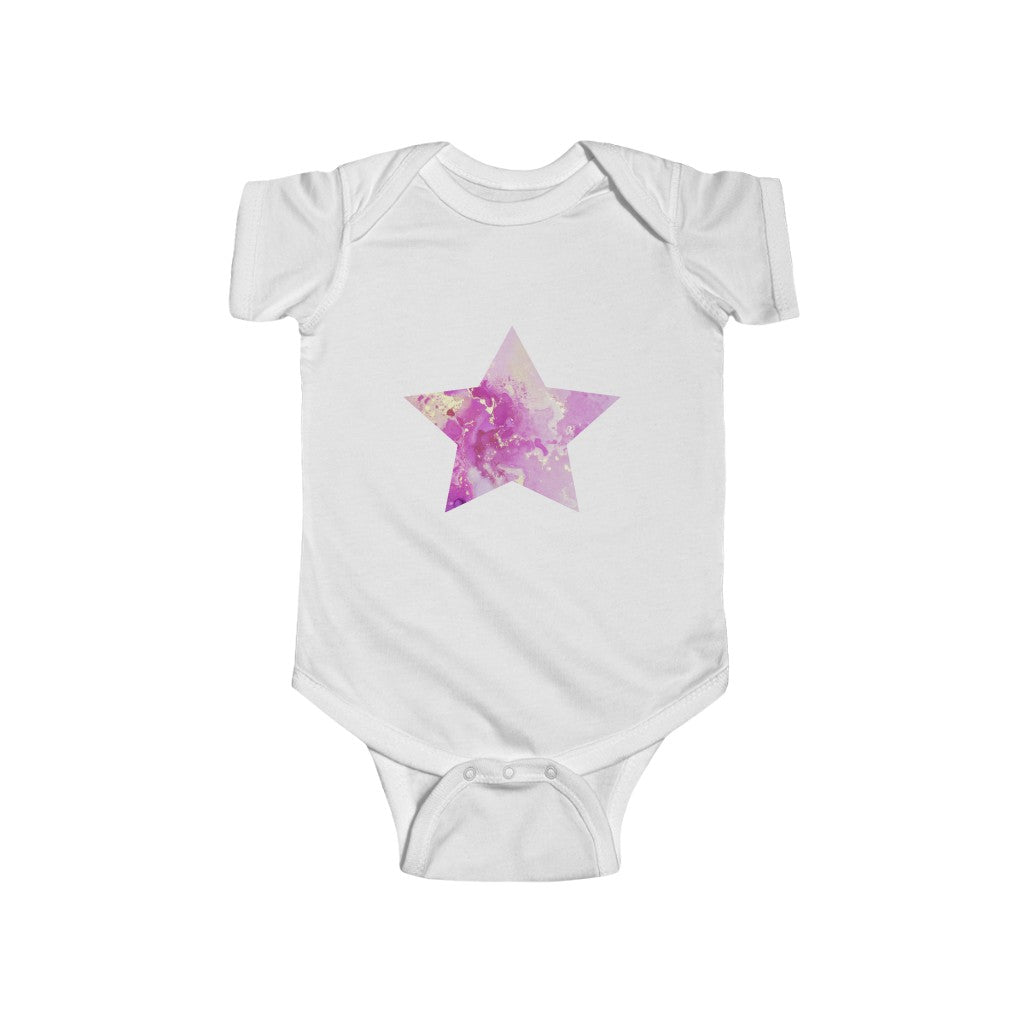 Infant Fine Jersey Bodysuit - Hallie Star Pink