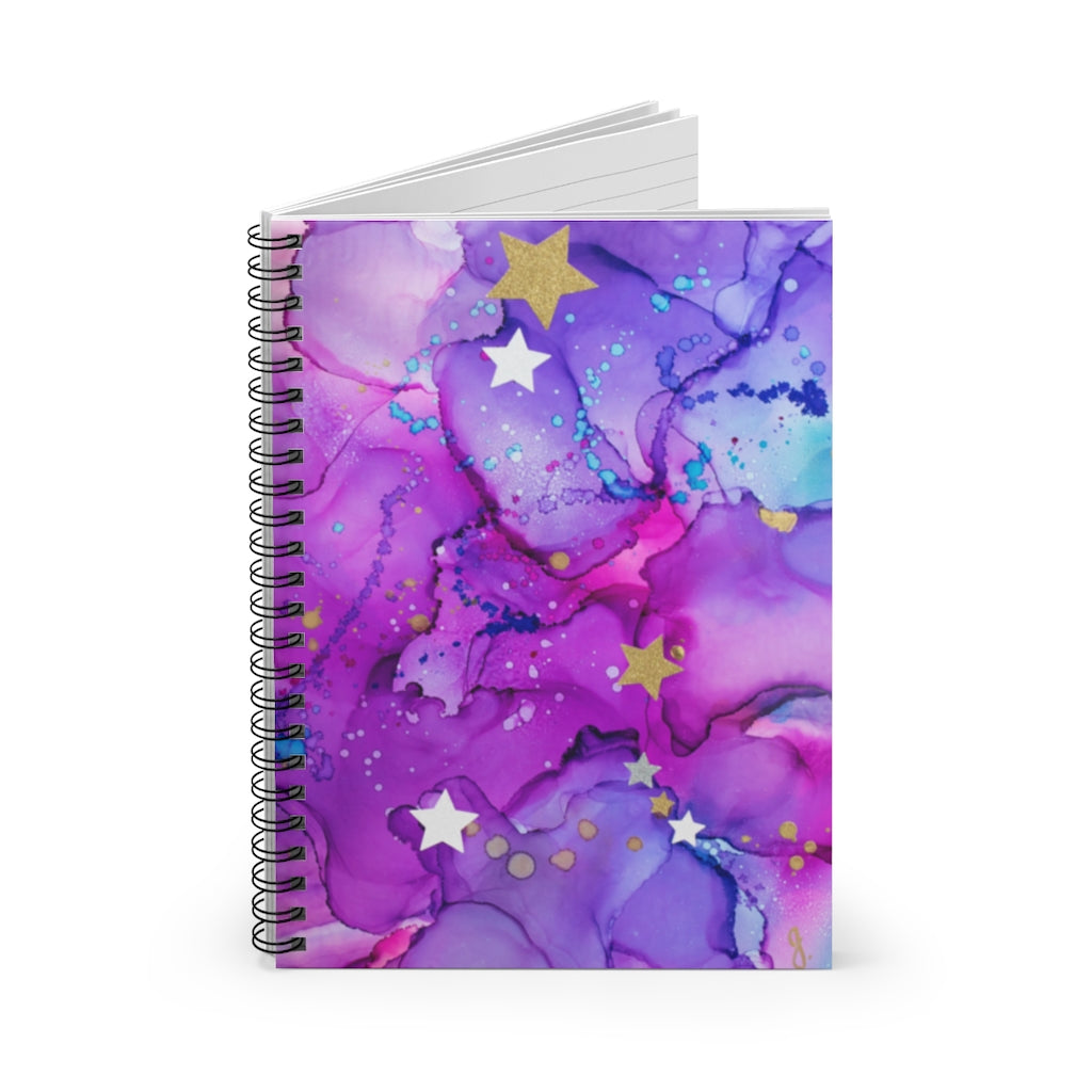 Desk Spiral Notebook - Emma - Glitter Enthusiast