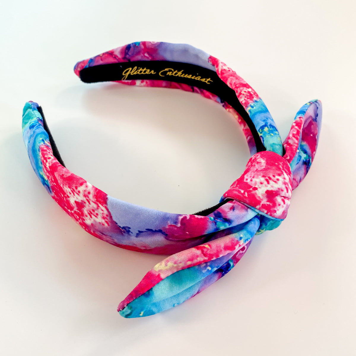 Kids Headbands Hallie Slim Bow Headband - Glitter Enthusiast