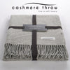 Throw - Cashmere Deluxe Throw - Light Grey