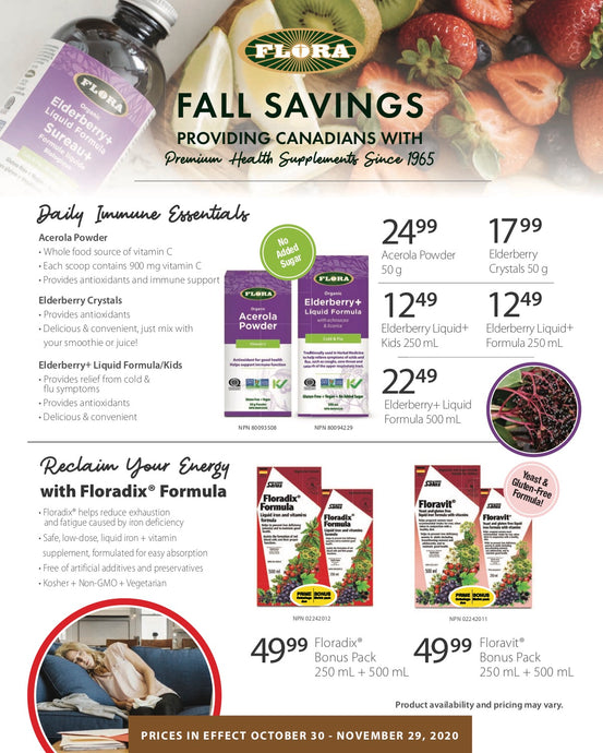 Flora Health Fall Flyer