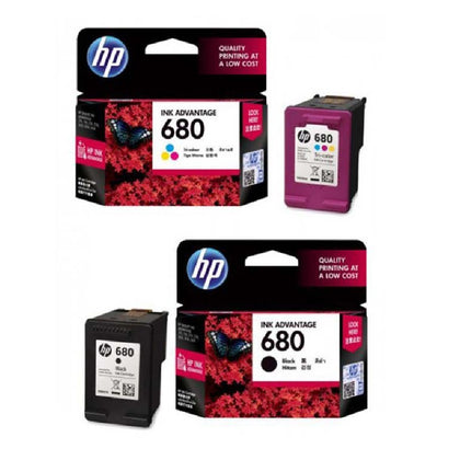 HP 680 Ink BLACK & TRI-COLOR