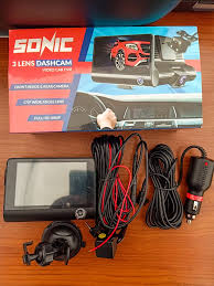 SONIC 3 Lens Dashcam FULL HD 1080P
