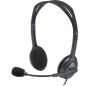Logitech H111 Stereo Headset with Adjustable Headband, 3.5mm audio jack, Rotating microphone, noise reduction