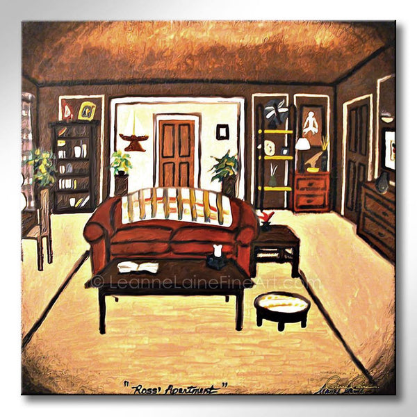 Leanne Laine Fine Art original artist painting of Ross apartment from Friends tv show