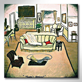 Leanne Laine Fine Art original artist painting of Phoebe's apartment from tv sitcom Friends