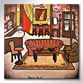 Leanne Laine Fine Art original artist painting of Friends sitcom TV show of Central Perk