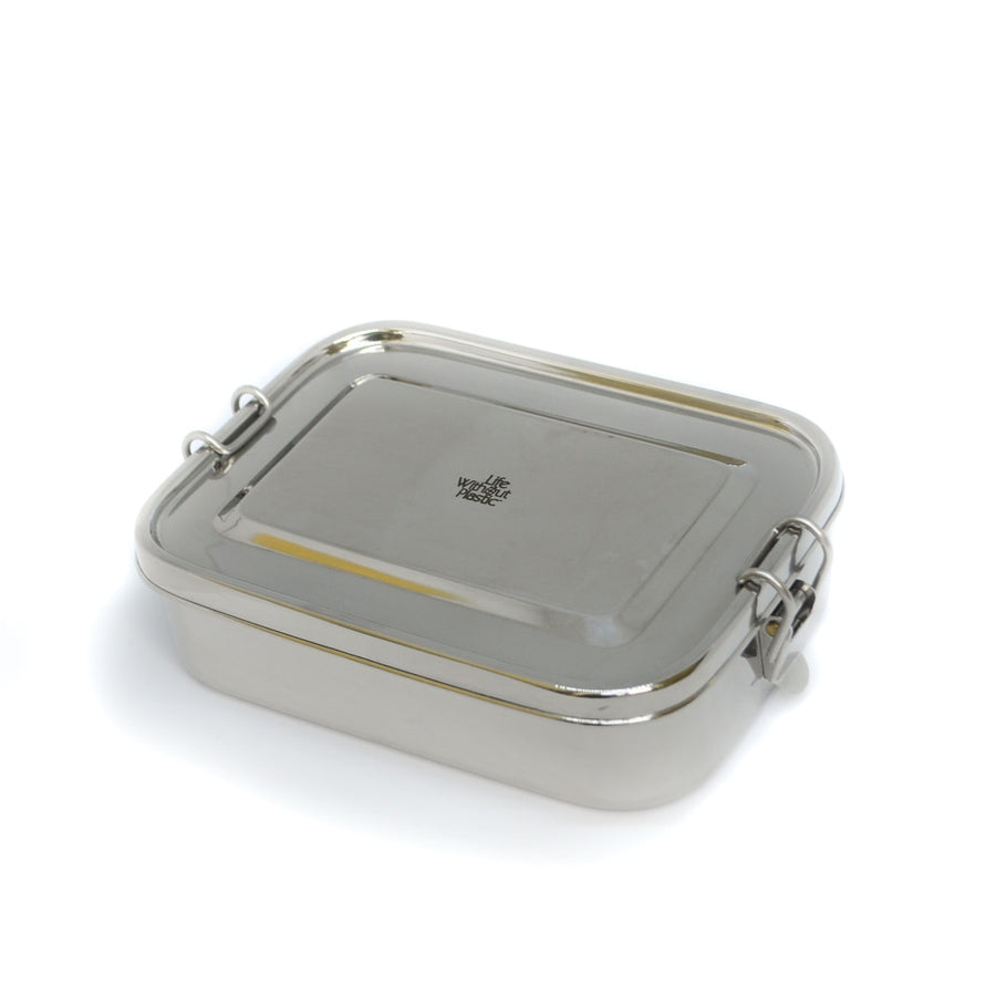 Stainless Steel Rectangular Airtight Food Storage Container - 1600 ml / 54 oz