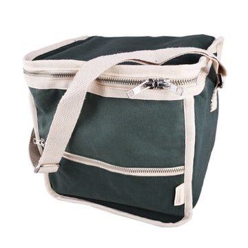 Plastic-Free Insulated Clean Lunch Bag - Square - Green