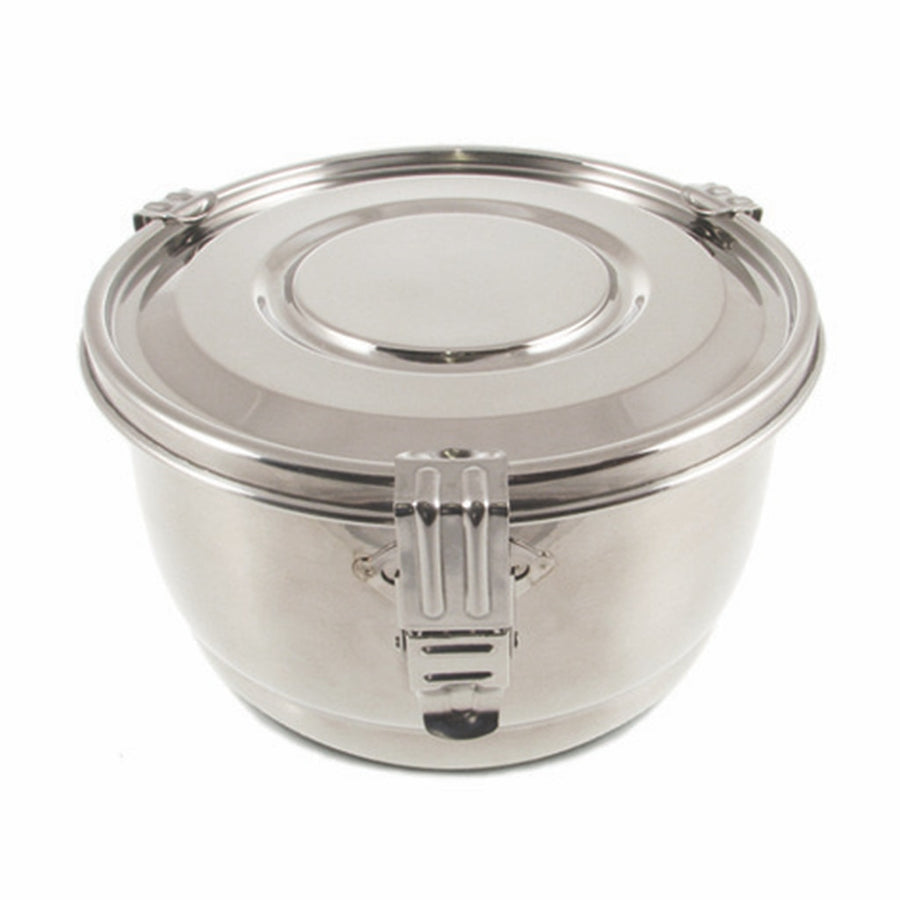 Stainless Steel Airtight Watertight Food Storage Container - 16 cm / 6.25 in