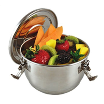 Stainless Steel Airtight Watertight Food Storage Container - 12 cm / 4.75 in