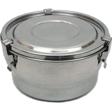 Stainless Steel Airtight Watertight Food Storage Container - 14 cm / 5.5 in