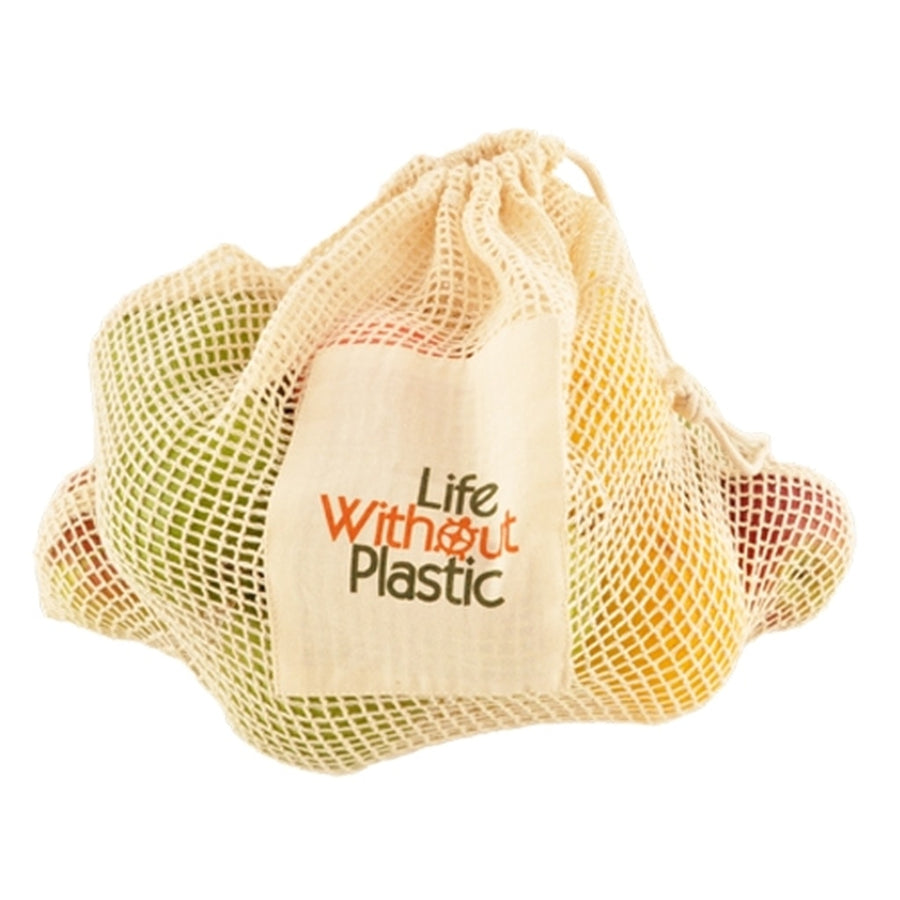 Case of 12 - Organic Cotton Mesh Plastic-Free Produce Bag - Large