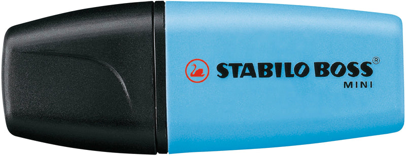 Textmarker - STABILO BOSS MINI - 4er Box - gelb, blau, grün, orange