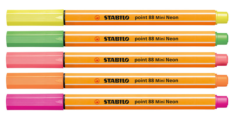 Fineliner & Filzstifte - STABILO point 88 Mini & Pen 68 Mini - 8er Pack - Neonfarben