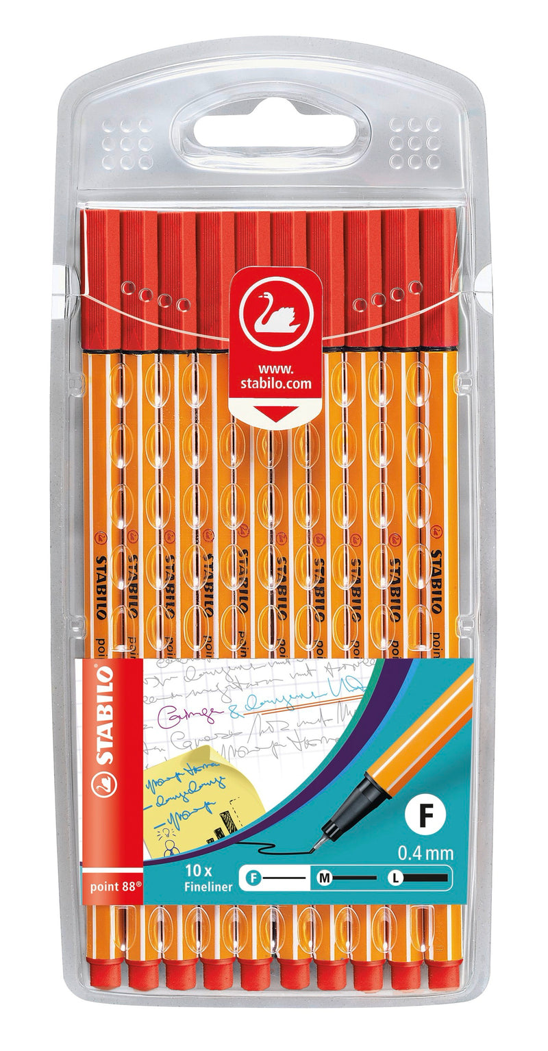 Fineliner - STABILO point 88 - 10er Pack - rot