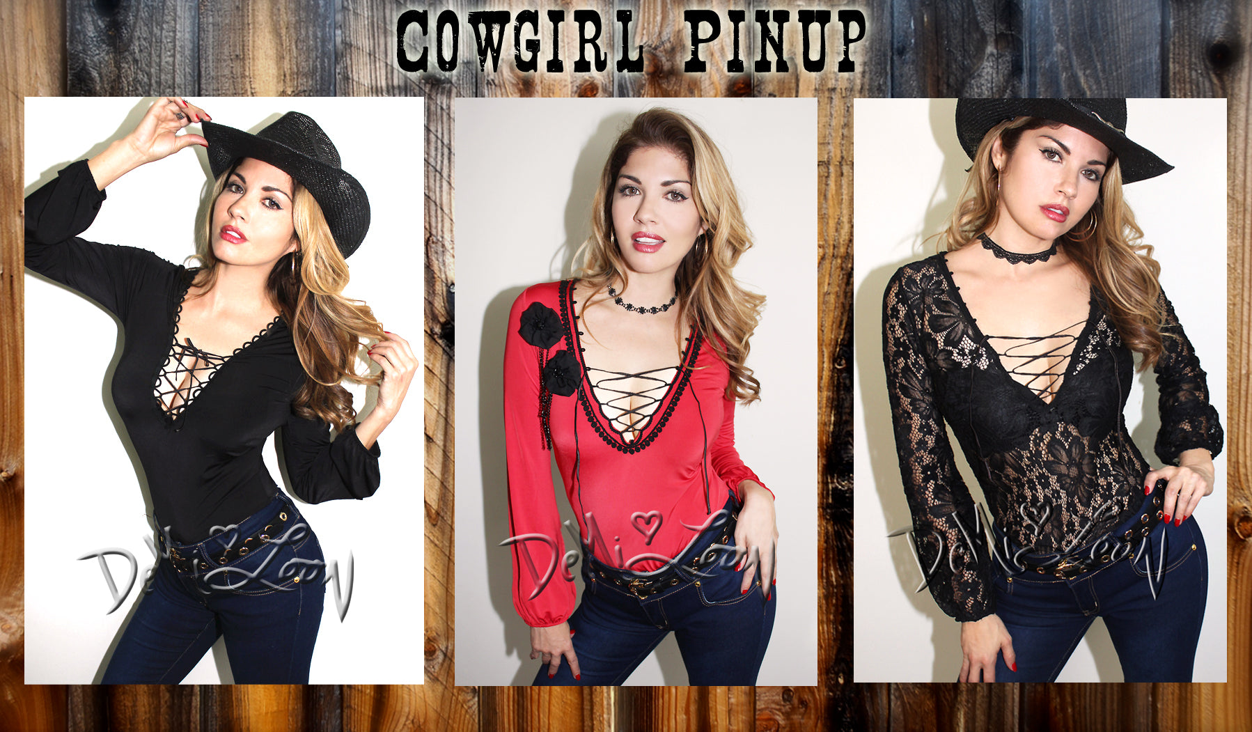 Cowgirl Pinup clothing by Demi Loon