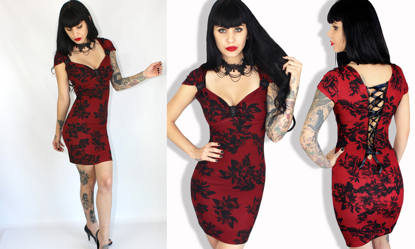 Demi Loon Pinup clothing holiday pinup dress corset back dress