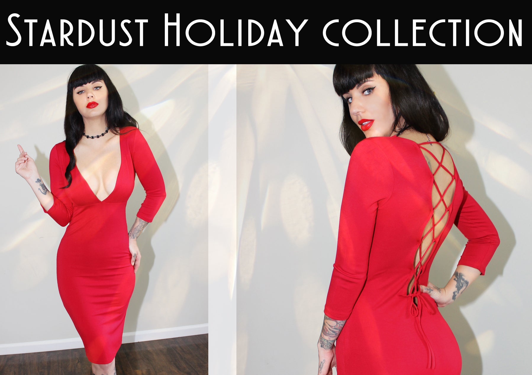 demi loon holiday pinup dress