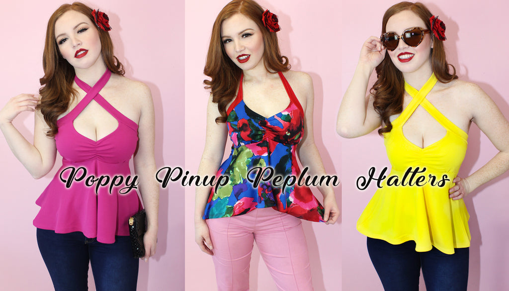 Cute Pinup Tops, Sexy Plus Size pinup clothing