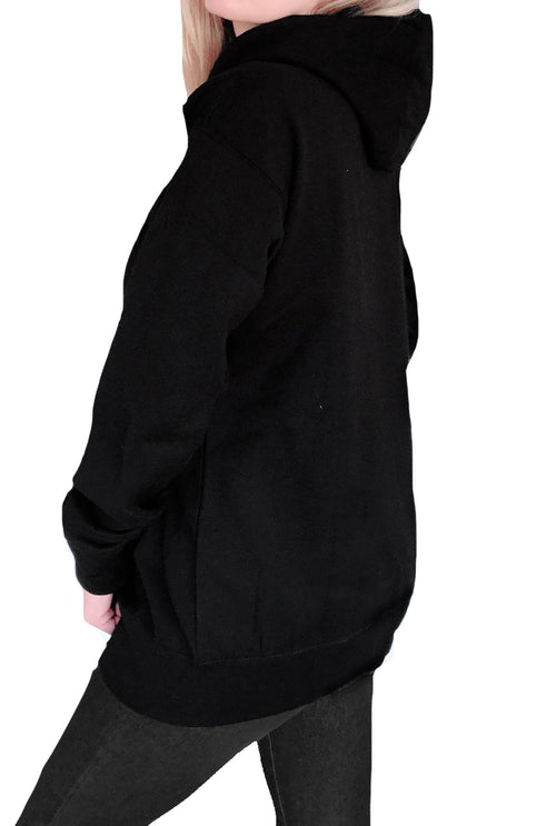 Vegan Zombies Boyfriend Fit Hoodie-Black