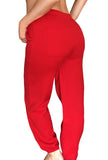 Gingerbread Dreams Drawstring Graphic Christmas Sweats- Red