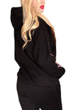 Gingerbread Dreams Cute Graphic Christmas hoodie- Black
