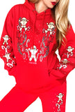 Gingerbread Dreams Cute Graphic Christmas hoodie- Red