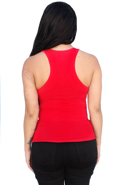 Live Fast Lace-up Corset tank Top- Red