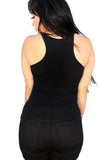 Live Fast Lace-up Corset tank Top- Black
