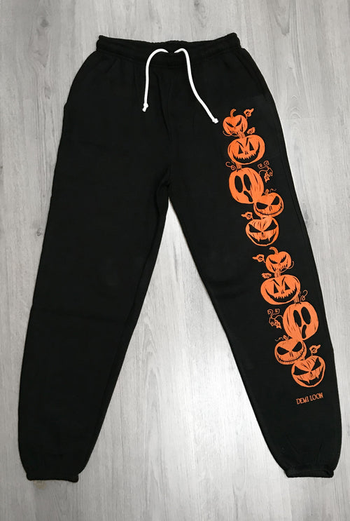 "Pumpkin Halloween ""Boyfriend Fit"" Sweat Pants"