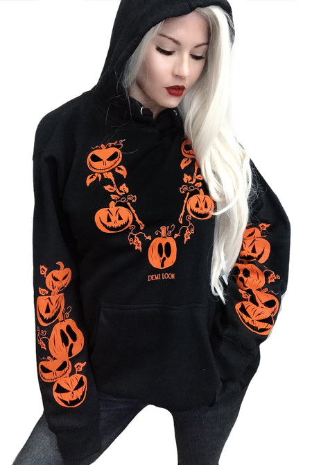 Pumpkin Boo Halloween Slashed Gothic Tee