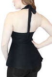 Not Your Babydoll Gothic Pinup Halter Top- Black