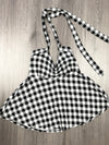 Not Your Babydoll Gothic Pinup Halter Top- BW Checks