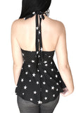 Not Your Babydoll Gothic Padded Pinup Halter Top- Stars