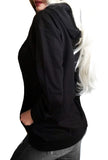 Gothic Pullover Cat Hoodie- Pepper Noir