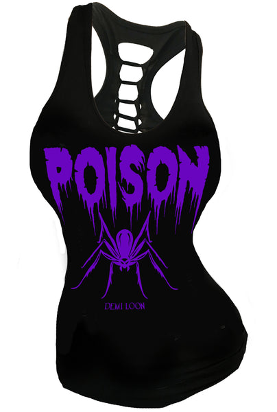 Poison Slashed Back Spider Racerback Tank
