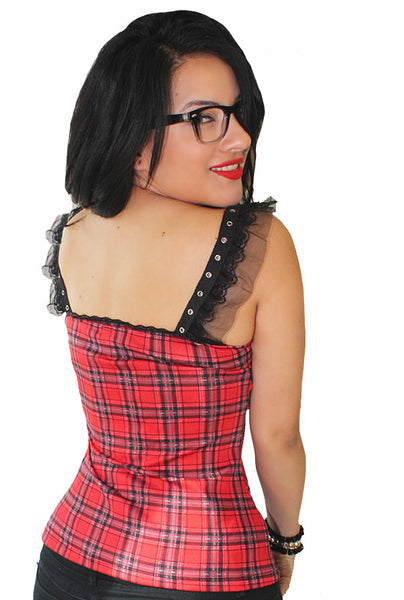 Tartan Tart Pinup Top- Sold Out
